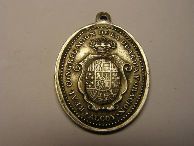 Medalla curiosa de la parroquia de San Mauro y San Francisco, ALCOY. Tc_17_21