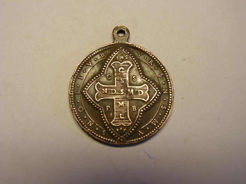 Medalla cruz de San Benito, finales siglo XIX. Tc_17_28