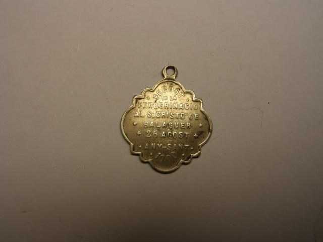 Medalla al Santo Cristo de Balaguer, año 1900. Tc_19_19