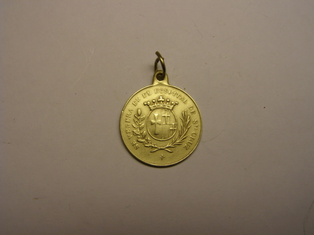 Medalla de Santa Elena, venerada en el Hospital de la Santa Cruz, Barcelona, siglo XIX. Tc_19_24
