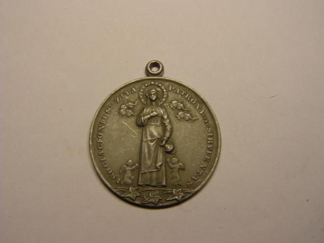 Medalla de Santa Zita, patrona de las sirvientas. Tc_19_25