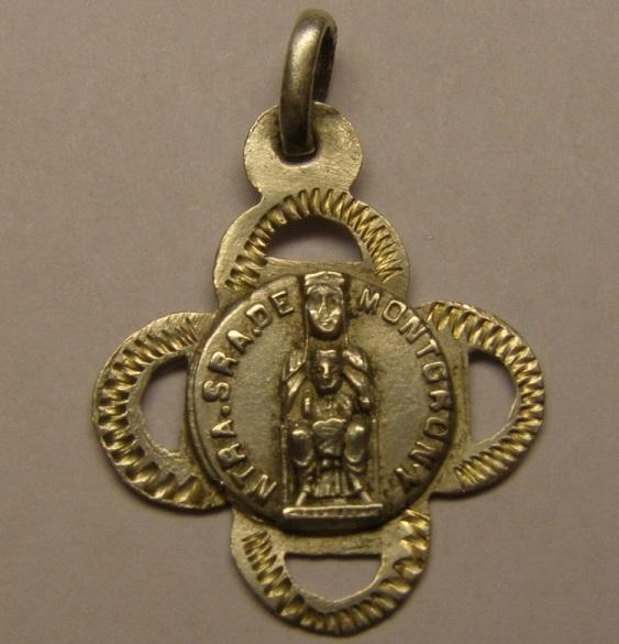 Medalla de Nª Sª de Montgrony, Gombren, comarca del Ripollés.  Tc_20_14