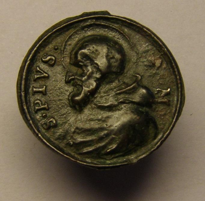 Medalla del papa Pio V y San Pedro, siglo XVIII Tc_21_16