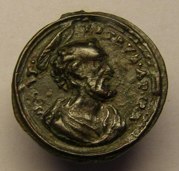 Medalla del papa Pio V y San Pedro, siglo XVIII Tc_21_17