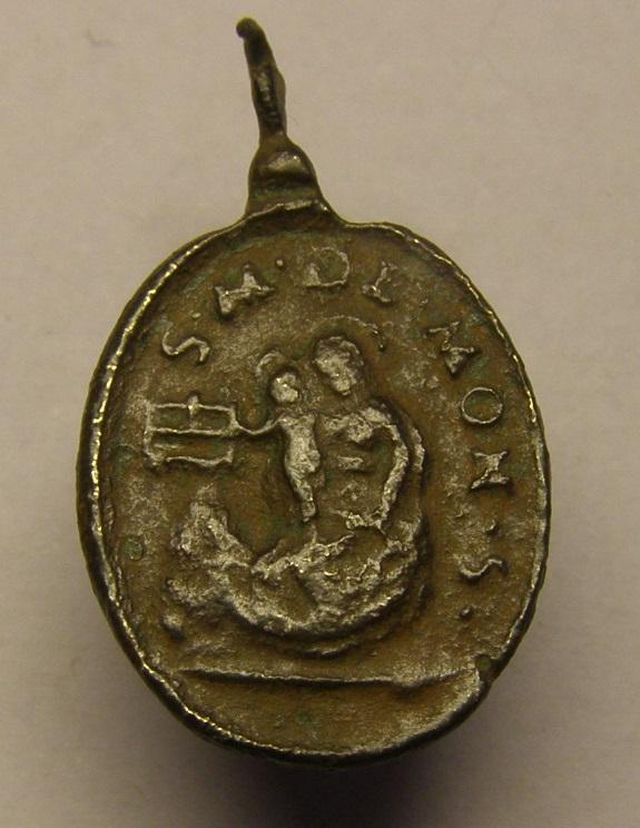 Medalla Virgen de Montserrat, siglo XVII. Tc_21_18