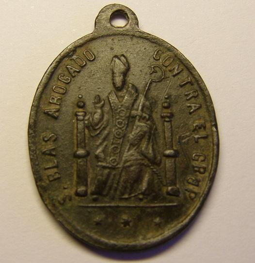 Medalla de S. José y San Blas, abogado contra el CRUP. Siglo XIX. Tc_22_24