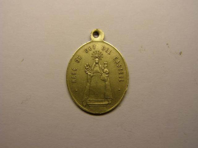 Medalla de la Mare de Deu del Castell, Castellvi de la Marca, finales del siglo XIX.(MAM) Tc_23_10