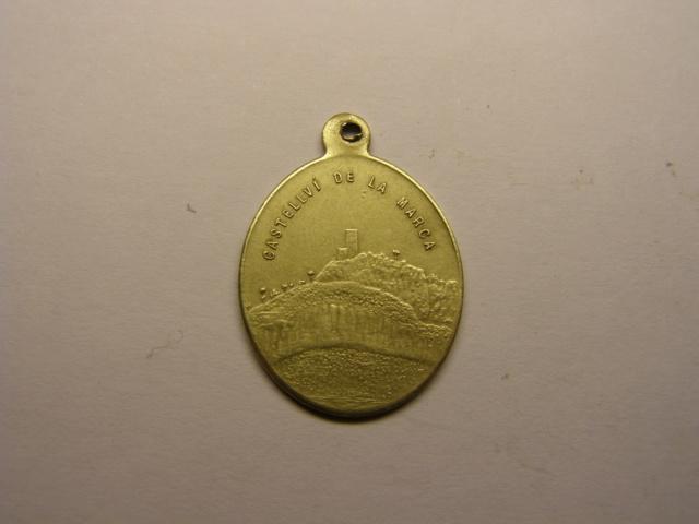 Medalla de la Mare de Deu del Castell, Castellvi de la Marca, finales del siglo XIX.(MAM) Tc_23_11