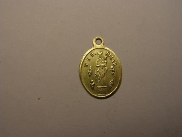 Medalla de la Virgen del Pilar y Nª Sª del Portillo. Siglo XIX. (AM) Tc_24_10