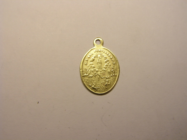 Medalla de la Virgen del Pilar y Nª Sª del Portillo. Siglo XIX. (AM) Tc_24_11