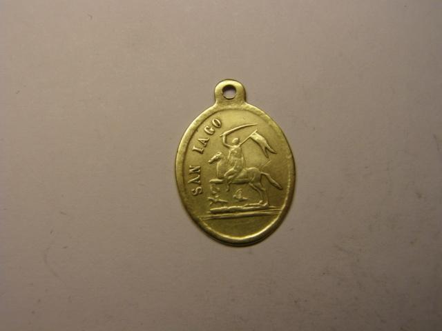 Medalla Virgen del Pilar y San Iago. Siglo XIX. Tc_24_13