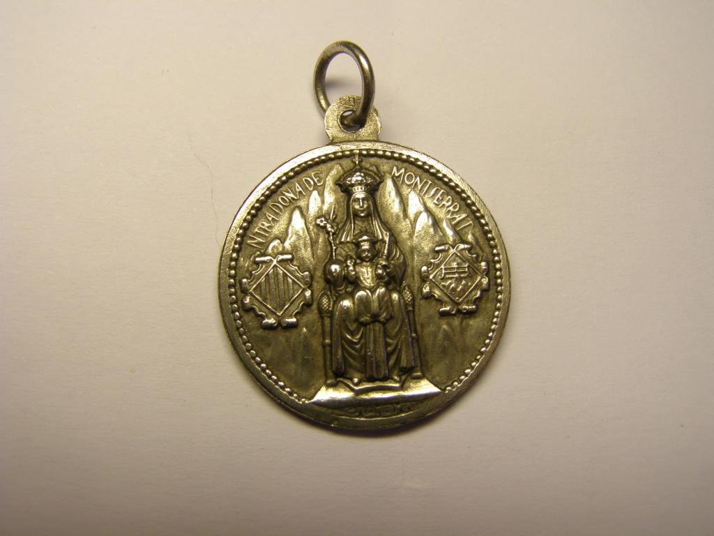 Medalla de la Virgen de Montserrat y del venerable Josep de Sant Benet. Tc_24_14