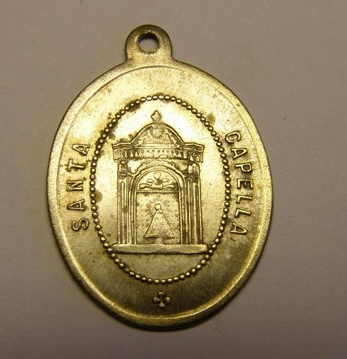 Medalla de la Virgen del Pilar, siglo XIX. Reverso en catalan. Tc_25_30
