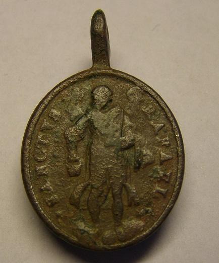Medalla de San Juan de Dios y San Rafael, siglo XVIII Tc_26_10