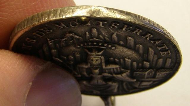 Medalla de Nª Sª de Montserrat y San Benito, siglo XVIII Tc_27_32