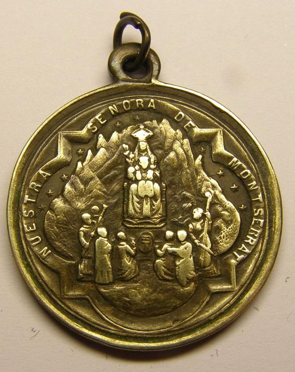 Medalla de N Sª de Montserrat, siglo XIX. Tc_27_34