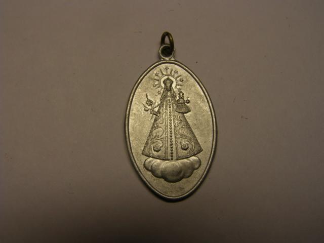 Medalla de la Virgen - Verge  de la Riera, Borges del Camp, Tarragona. Ppios del s XX (AM) Tc_28_12
