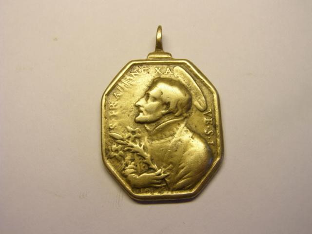 Medalla octogonal de San Francisco Javier y la Inmaculada  (R.M. SXVII-P133) Tc_5_711