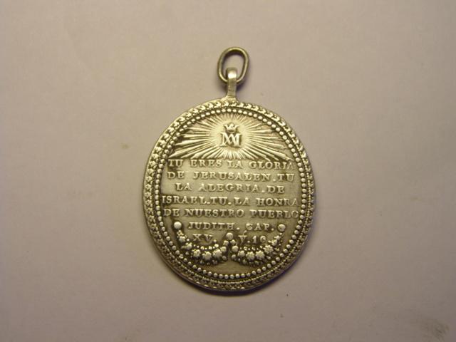 Medalla de Nª Sª del Rosario de Sº Domingo, México, ¿siglo XVIII? Tc_5_714
