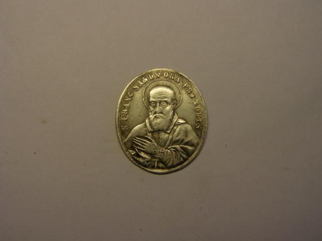 Medalla de San Francisco de Sales / Santa María Auxilio de los cristianos, S. XIX. Tc_5_721