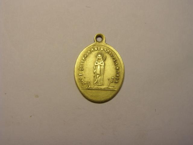 Medalla de Santa Quiteria, siglo XIX, con error en la leyenda. Tc_5_725