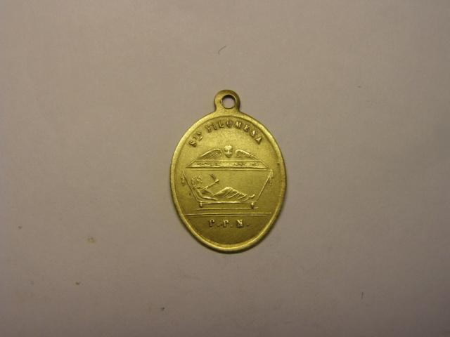Medalla de Santa Quiteria, siglo XIX, con error en la leyenda. Tc_5_727
