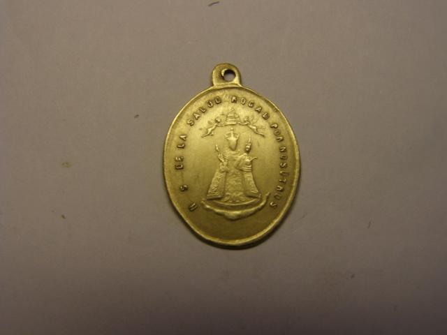 Medalla del SSº Cristo de San Salvador, Nª Sª de la Salud, siglo XIX. (AM) Tc_5_731