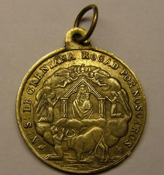Medalla de Nª Sª de GRENYANA, finales de siglo XIX. (AM) Tc_8_310