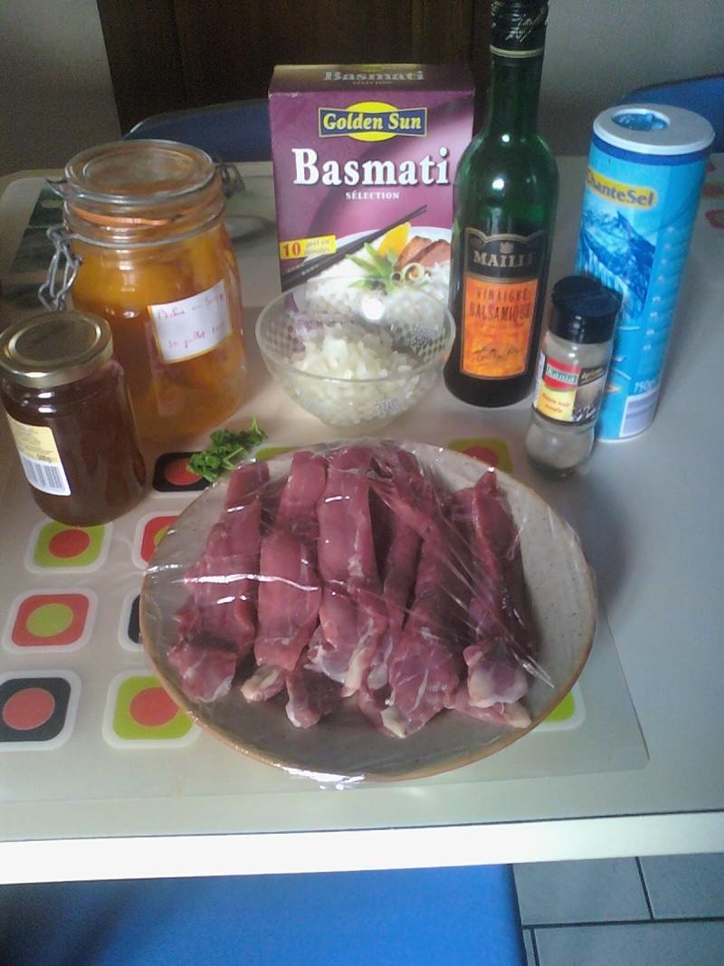 Aiguillettes de canard au miel et aux pêches 09101114