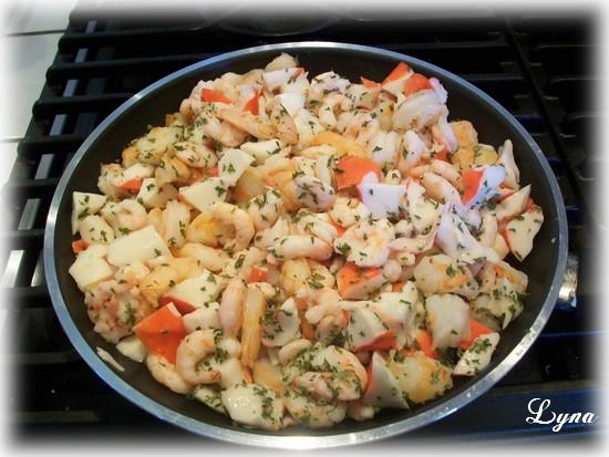 Coquilles aux fruits de mer  Crevet10