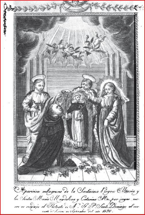 Aparicion V. del Rosario / Sto. Domingo de Soriano - s. XVII  (R.M. SXVII-C12) Grav_d10