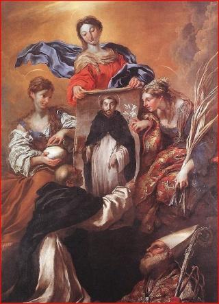 Aparicion V. del Rosario / Sto. Domingo de Soriano - s. XVII  (R.M. SXVII-C12) Miracl10