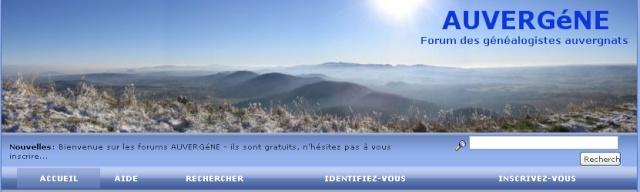 AUTRES FORUMS GENEALOGIQUES FRANCOPHONES Auverg10