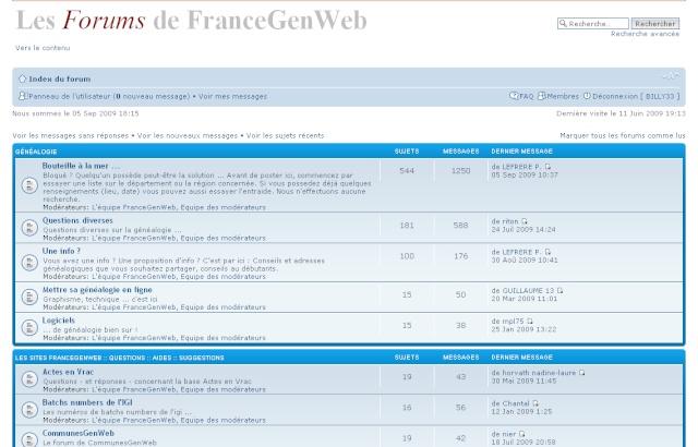 AUTRES FORUMS GENEALOGIQUES FRANCOPHONES France10