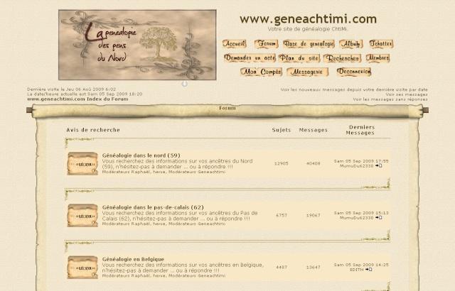 AUTRES FORUMS GENEALOGIQUES FRANCOPHONES Geneac10