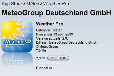 [iPhone] WeatherPro Weathe10