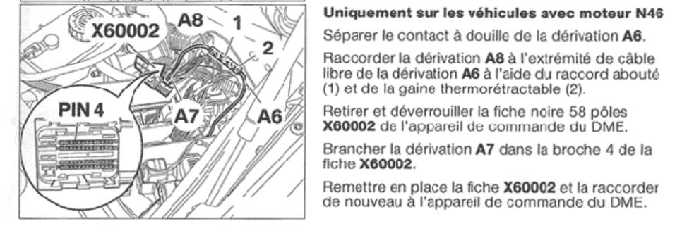 [ BMW E46 316i N46 an 2005 ] Branchement volant multifonction sur calculateur (résolu) N4610