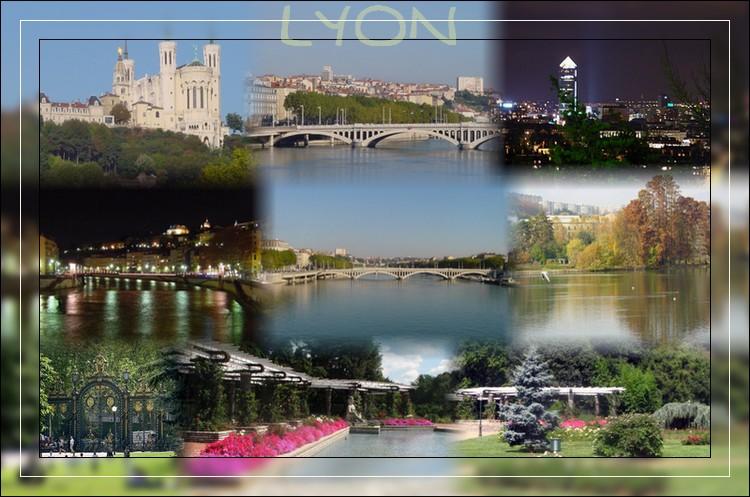 Assemblage pour effet carte postale Lyon210