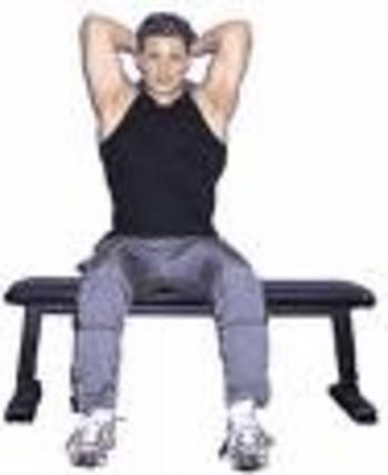 L'extension des avant-bras avec un haltère, assis 401710