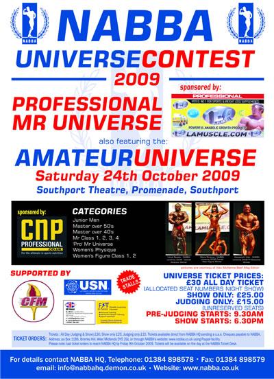 Nabba - Univers NABBA 2009 Poster10