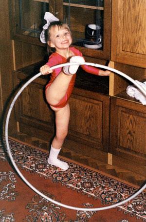 Les gymnastes lorsqu'elles étaient très jeunes 210