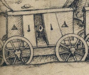 Reconstit' d'un wagenburg  allemand par l'Ost du Dauphin (ca 1480) Det210