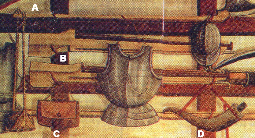 L'image du jour : salle des gardes du château d'Issogne 1499-1509 Detail10
