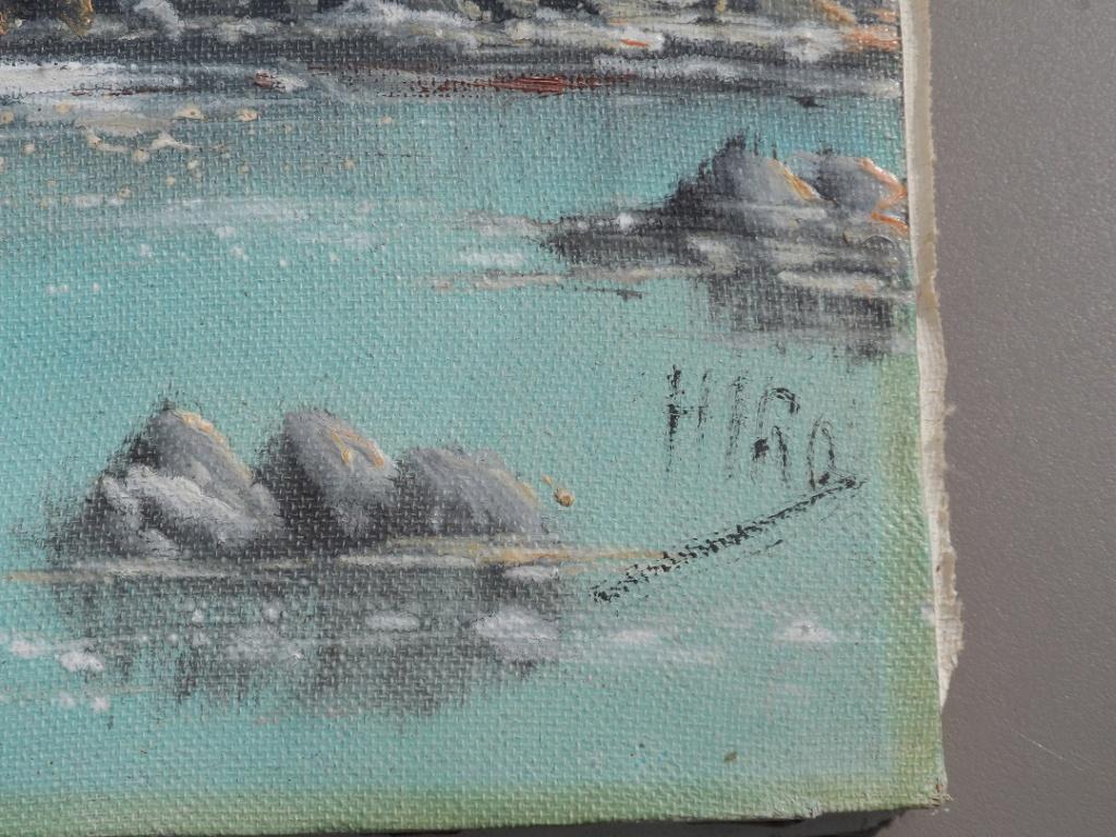 petite toile avec décor de mer Sam_4612