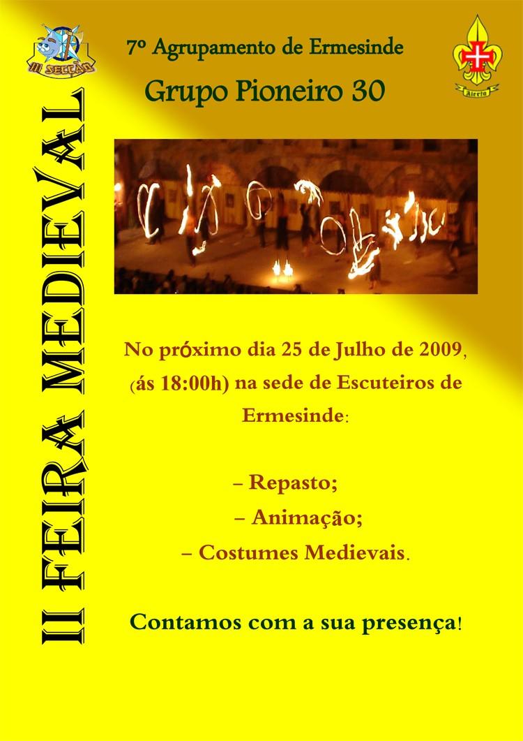 II Feira Medieval - Organização IIIª Secção do 7º Agrupamento do CNE Cartaz11