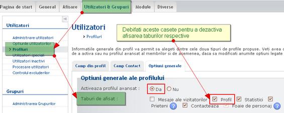 Profile - configurarea permisiunilor de vizualizare Afisar10