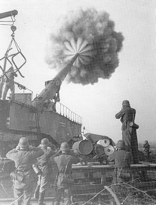 Le K5 Canon d'artillerie ferroviaire allemande Cank510