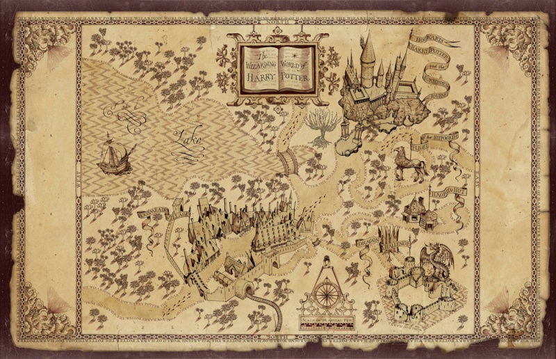 The Wizarding World of Harry Potter Map10