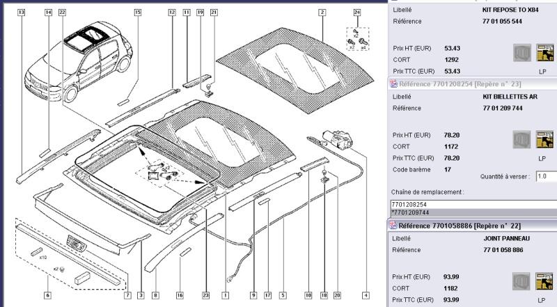 Réduire claquements, vibrations du toit ouvrant panoramique Toit_o10