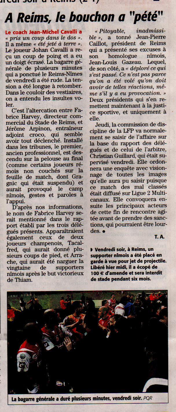 """Reims-Nîmes : le choc des """"derniers"""" Ml14"""